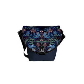 Elegant chic boho stylish floral pattern courier bags