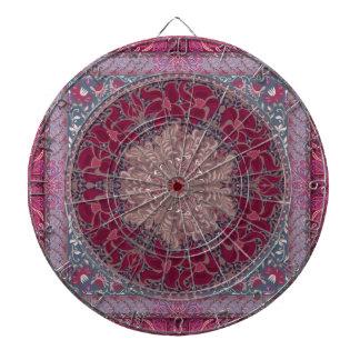 Elegant chic boho stylish floral pattern dartboard