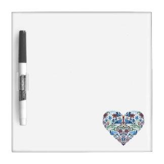 Elegant chic boho stylish floral pattern dry erase board