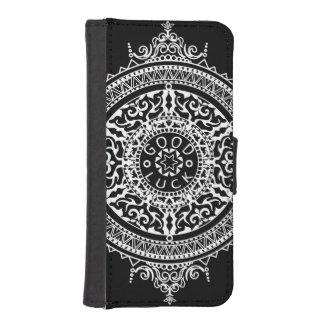 Elegant chic boho stylish floral pattern iPhone SE/5/5s wallet case