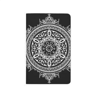 Elegant chic boho stylish floral pattern journal