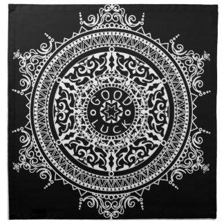 Elegant chic boho stylish floral pattern napkin