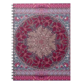 Elegant chic boho stylish floral pattern notebook