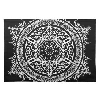 Elegant chic boho stylish floral pattern placemat
