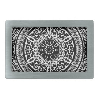 Elegant chic boho stylish floral pattern rectangular belt buckle