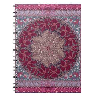 Elegant chic boho stylish floral pattern spiral notebook
