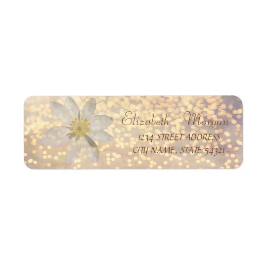 Elegant Chic  Bokeh ,Daisy ,Address Label