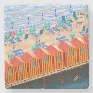 Elegant Chic Cabanas of Sorrento Stone Coaster
