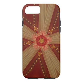 Elegant Chic Classic Red Brown Gold Star Ribbon iPhone 8/7 Case