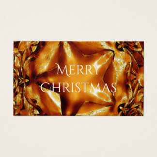 Elegant Chic Copper Gold Christmas Star Business Card