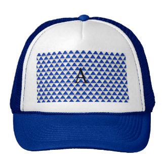 Elegant chic cute triangle navy white pattern cap