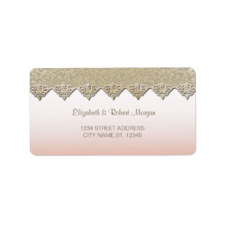 Elegant Chic Damask  Wedding Label