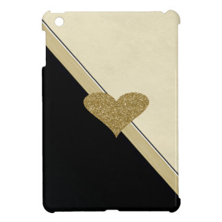 Elegant Chic  Faux Gold Glittery  Heart Case For The iPad Mini