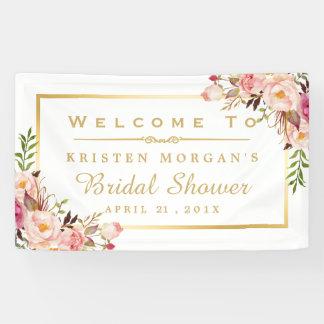 Elegant Chic Floral Gold Frame Bridal Shower