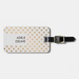 Elegant Chic Girly Silver Dots Luggage Tag
