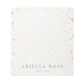 Elegant Chic Gold Stars Pattern Notepad