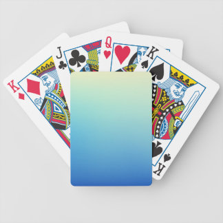 Elegant & Chic Gold Teal Blue Ombre Watercolor Bicycle Playing Cards