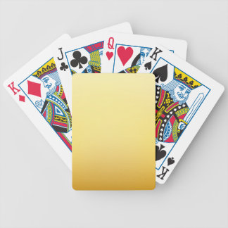 Elegant & Chic Golden Sun Ombre Watercolor Bicycle Playing Cards