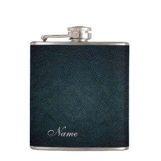 Elegant chic leather look  personalised hip flask