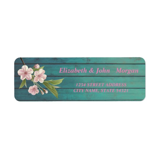 Elegant  Chic Luxury ,Cherry Tree,Wood Texture Return Address Label
