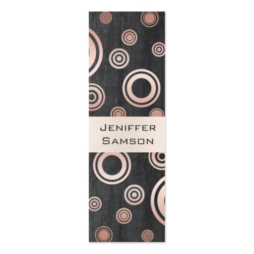 Elegant chic luxury contemporary abstract circles business card templates
