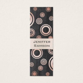 Elegant chic luxury contemporary abstract circles mini business card