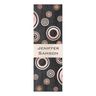 Elegant chic luxury contemporary abstract circles pack of skinny business cards