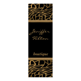 Elegant chic luxury contemporary abstract leopard business card
