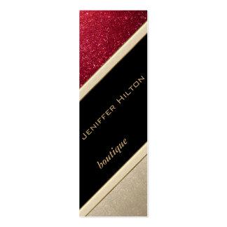Elegant chic luxury contemporary glittery business card