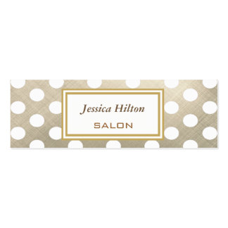 Elegant chic luxury contemporary metal polka dots pack of skinny business cards