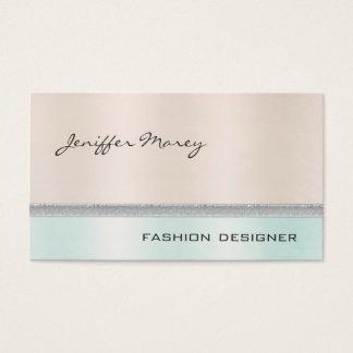 Elegant chic luxury contemporary shiny pastel business card