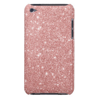 Elegant Chic Luxury Faux Glitter Rose Gold Case-Mate iPod Touch Case