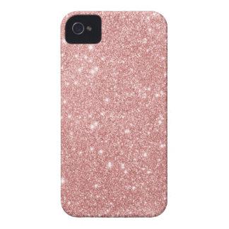 Elegant Chic Luxury Faux Glitter Rose Gold iPhone 4 Cases