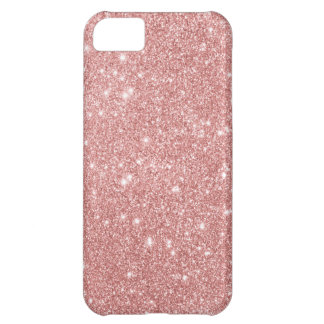 Elegant Chic Luxury Faux Glitter Rose Gold iPhone 5C Case