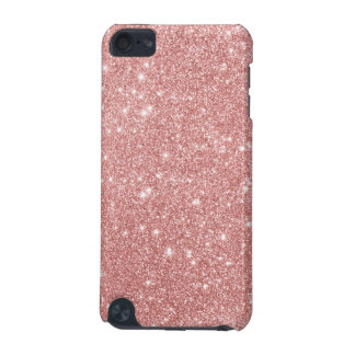 Elegant Chic Luxury Faux Glitter Rose Gold iPod Touch 5G Cover