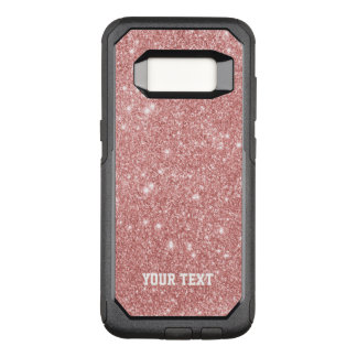 Elegant Chic Luxury Faux Glitter Rose Gold OtterBox Commuter Samsung Galaxy S8 Case