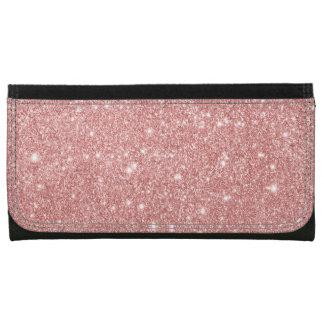 Elegant Chic Luxury Faux Glitter Rose Gold Wallets