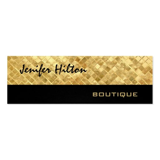 Elegant chic luxury modern golden leather texture business cards