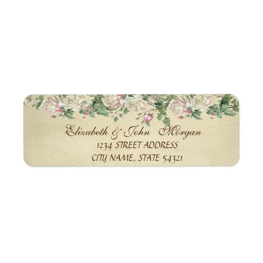 Elegant  Chic Luxury -Roses  Address Label
