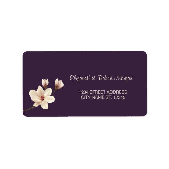 Elegant Chic Magnolia  Wedding Label