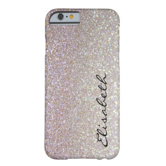 Elegant chic moden luxury faux glittery barely there iPhone 6 case