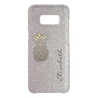 Elegant chic moden luxury faux glittery pineapple uncommon samsung galaxy s8 case