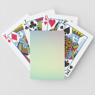 Elegant & Chic Ombre Pink and Teal Watercolor Bicycle Playing Cards