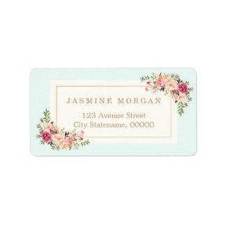 Elegant Chic Pastel Watercolor Floral Boutique Label