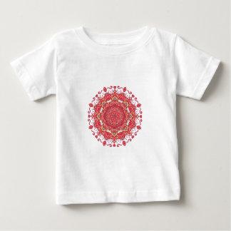 Elegant & Chic Red Floral Abstract Mandala Baby T-Shirt