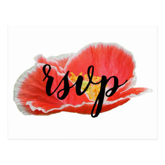 Elegant Chic Red Poppies Floral RSVP Enclosure Postcard