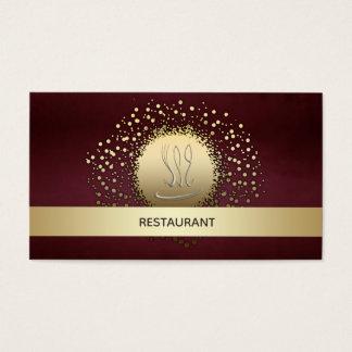 Elegant chic restaurant/ catering confetti vintage business card