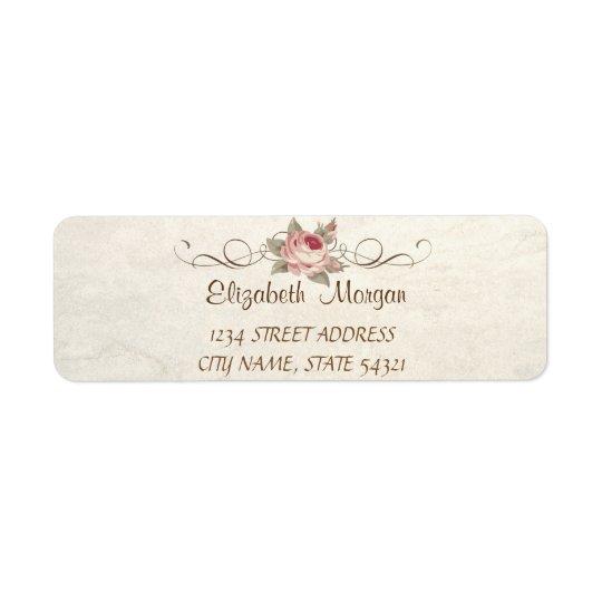 Elegant Chic Romantic, Rose  Address Label