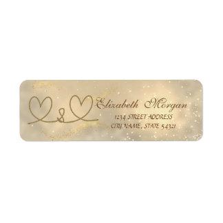 Elegant  Chic Rope Hearts  Address Return Address Label