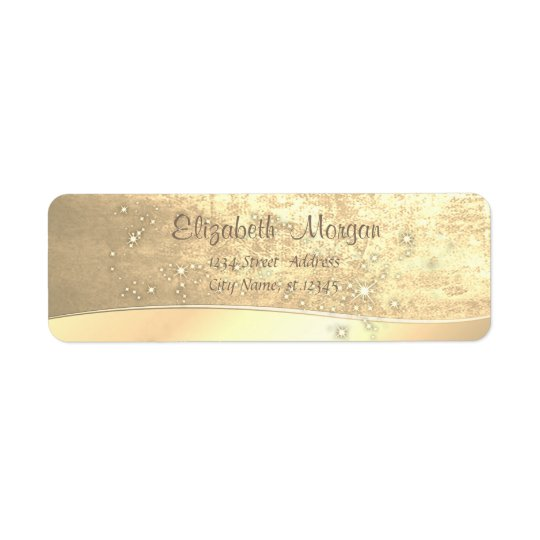 Elegant Chic  Simple,Faux Gold,Sparkle Return Address Label